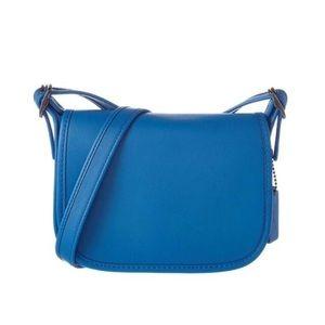 🌿Coach small blue saddle bag lapis crossbody bag